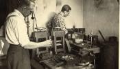 Zeltkaļu darbnīca Augsburgā, 1948.g.
