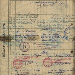 Lappuse no Biscaya kuģa žurnāla