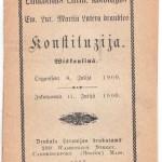 Mārtiņa Lutera draudzes konstitūcija, izdota 1907. gadā