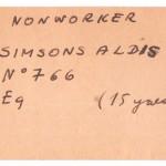 Alda Simsona kakla birka, iebraucot ASV, 1951.g.